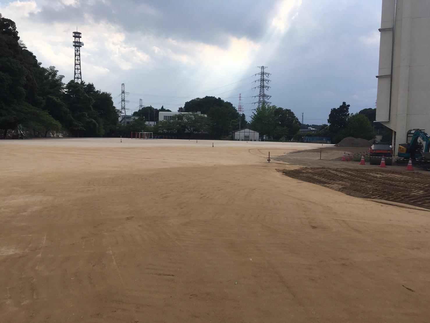 学校グラウンド 岩瀬砂1