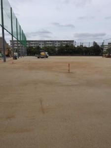 岩瀬砂敷均し グラウンド改修工事